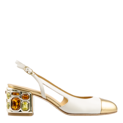 Pump slingback Beatrice in pelle