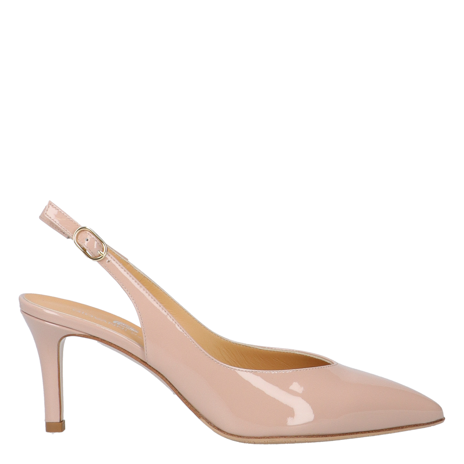 FLORA PINK PATENT LEATHER SLINGBACK PUMPS
