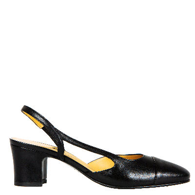 Leather pumps slingback Azzurra
