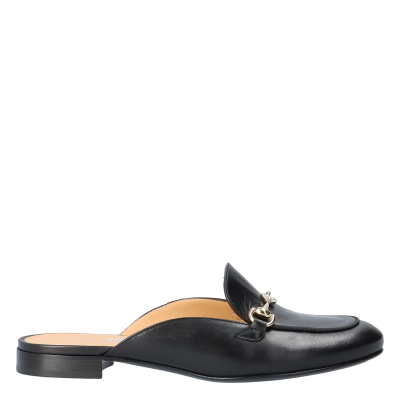 SABOT ALIDA BLACK LEATHER