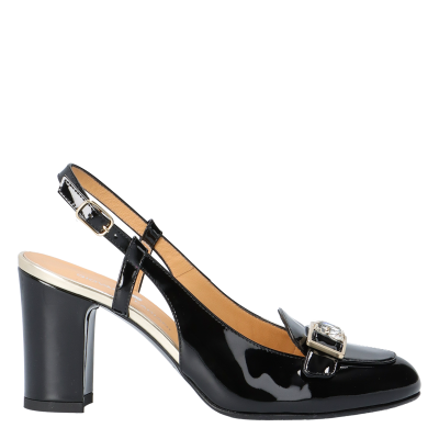 MARY PATENT LEATHER SLINGBACK PUMPS, SIZE 37, SAMPLE PRICE